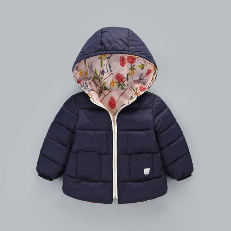 Newborn Baby Coats Hooded Winter Baby Girl Winter Coat Warm Winter Jacket for Newborn Winter Coat for Baby 1-6 Years(China)