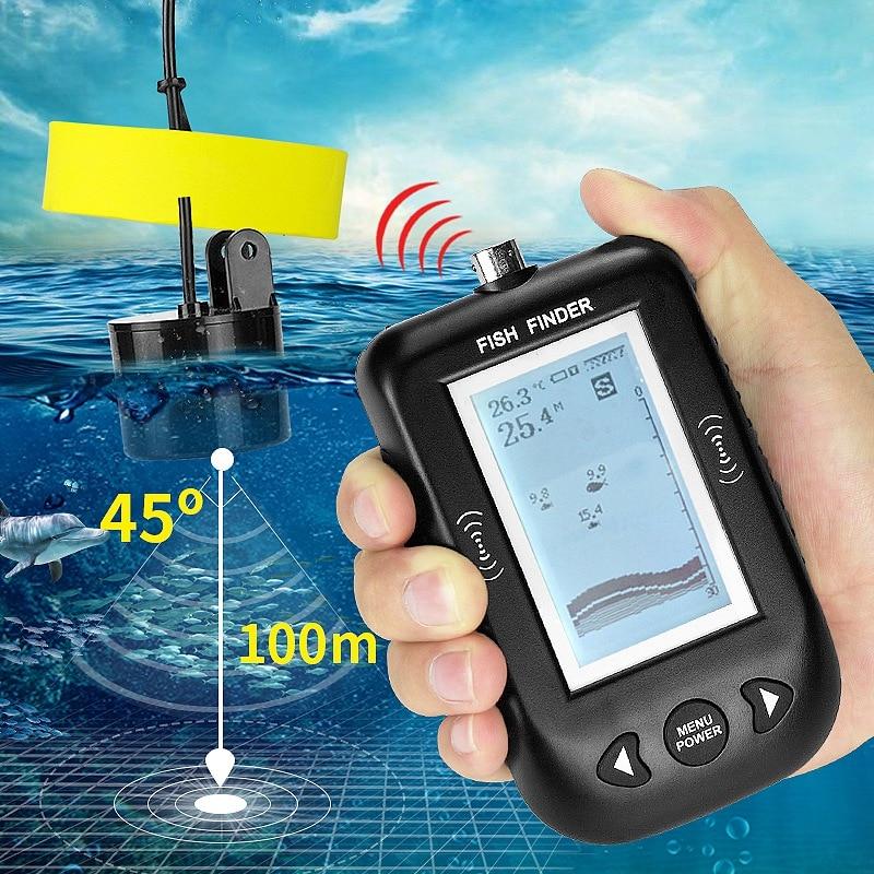 Sensibilidade sem Fio Cor Lago Android Fishfinder Sonar