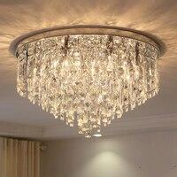 Moderne einfache überzogene kristall glanz Decke Lichter E14 220 V LED Plafonnier decke Lampe Für wohnzimmer schlafzimmer restaurant hotel