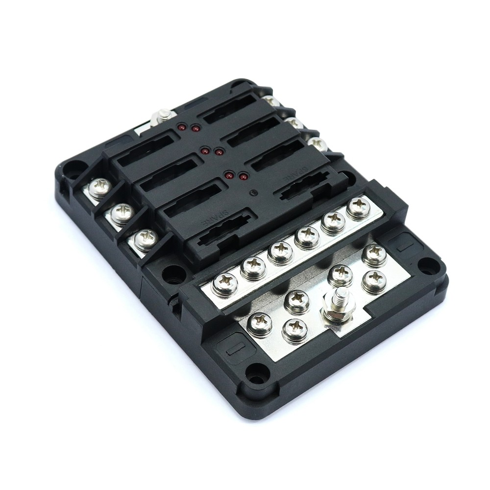 Online Shop 48v Dc 50 100 150 Amp Car Truck Rv Bus Marine Boat Grade Fuse Box 6 Way Block For Led Indicator 32v Blade