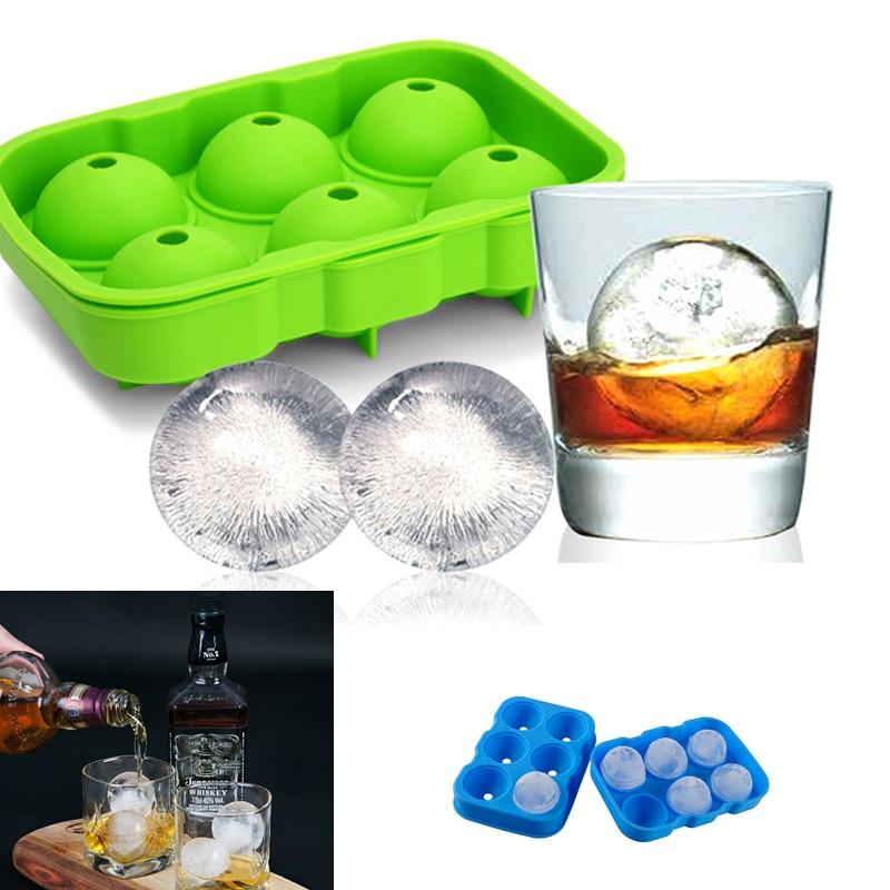 plateau a glacons pour cocktail et whisky 6 trous moule a glacons rond en silicone accessoires de cuisine pour bar