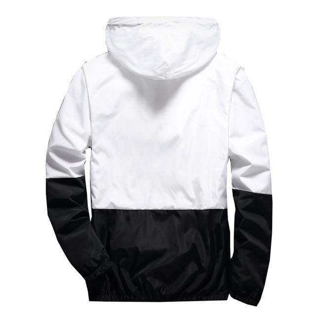New Spring Autumn Bomber Hooded Jacket Men Casual Slim Patchwork Windbreaker Jacket Male Outwear Zipper Thin Coat Brand Clothing 6