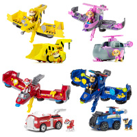 Genuine Paw Patrol Action Toys Figures Chase Transformation Car Catapult Deformation Aircraft Assembly Model Children Boy Gifts