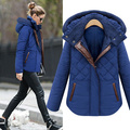 2016 European Style Women's Thick Middle-long Warm Cotton-padded Down Coat Casual Hoodies Female Autumn Outwear Parka Jacket