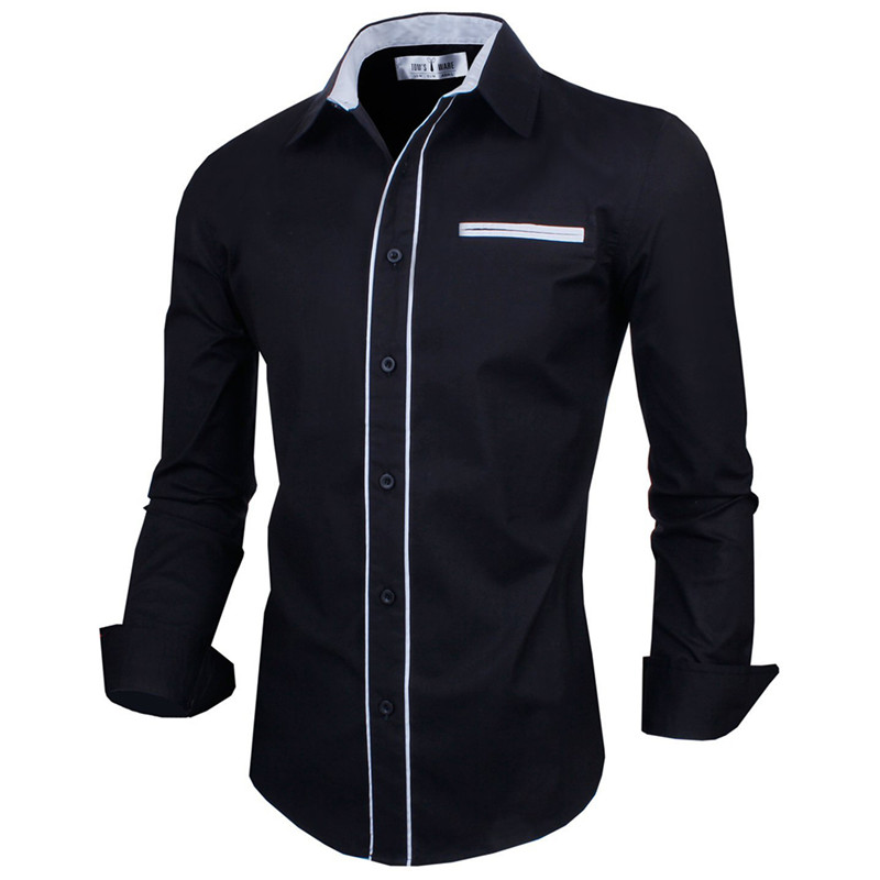 Compare Prices on Men Black Button Down Shirt- Online Shopping/Buy ...