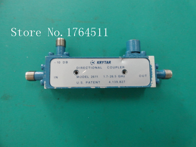 [BELLA] The Supply Of KRYTAR RF Broadband Directional Coupler 2611 1.7-26.5GHZ -10dB SMA