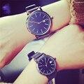 Ulzzang moda clásico reloj retro hombres y mujeres relojes de tendencia simple pareja relojes reloj mujer horloges mannen fabuloso skmei