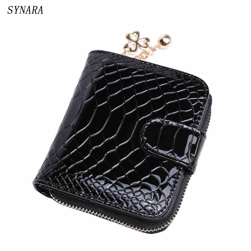 Patent Leather Women Short Wallets Ladies Small Wallet Zipper Roomy Coin Purse Female Credit Card Wallet Purses Money Bag otherchic women short wallets small simple wallet zipper coin pocket purse woman female roomy wallet purses money bag 7n01 14