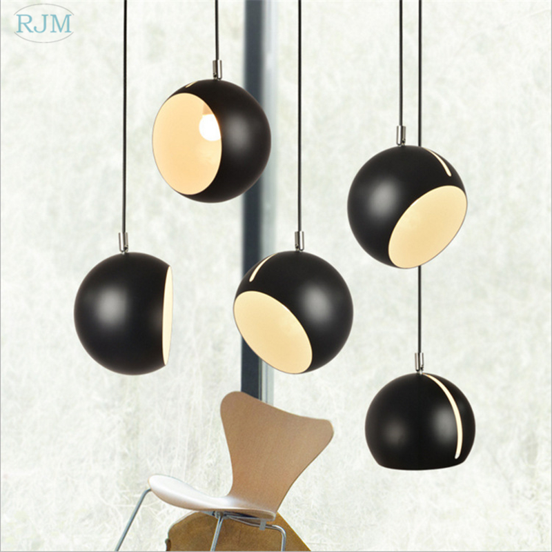 Nordic Iron Ball Pendant Light Modern Hang Lamp Industrial Decor Suspension Luminaire Bedroom Dining Room Kitchen Light Fixture
