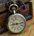 Оптовая цена покупатель хорошее качество моды желтое лицо леди девушки женщин кварц бронза старинные классические карманные часы