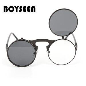 Steampunk Sunglasses Round Met