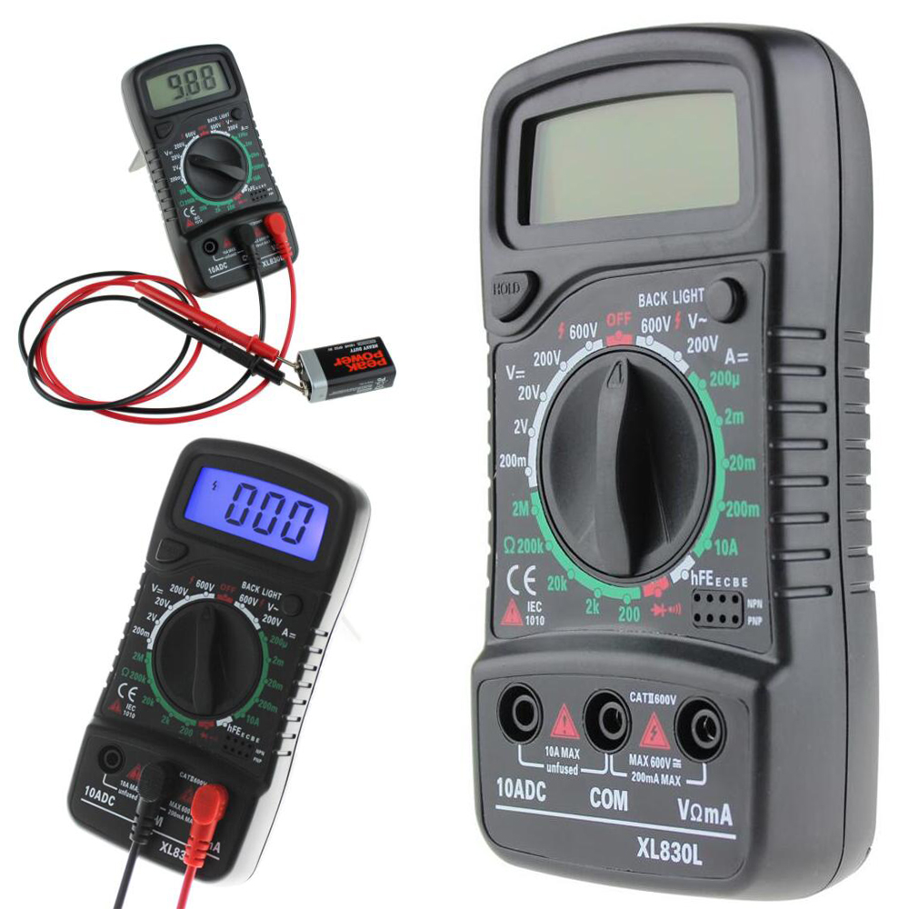 ANENG XL830L Digital LCD Multimeter Voltmeter Amperemeter AC/DC/OHM Volt Strom Tester