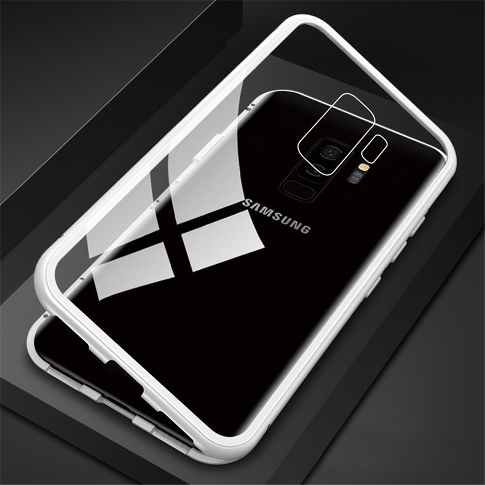 Magnetic Glass Case for Samsung Galaxy Note 8 9 S9 S8 Plus 10