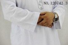 Cotton and linen T neck muslim men clothing 2 pieces Pakistani clothing Embroidery, arabe men thobe white kaftan