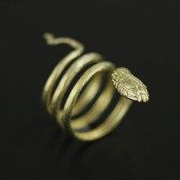 925 Ayar Gümüş takı sarma yılan ayarlanabilir açık boyut yüzük anel de prata esterlina
