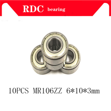 10PCS MR106ZZ MR106 Lager 6*10*3mm Miniatur MR106 ZZ Kugellager L1060ZZ MR106Z 106 6X10X3 MR106 2RS(China)