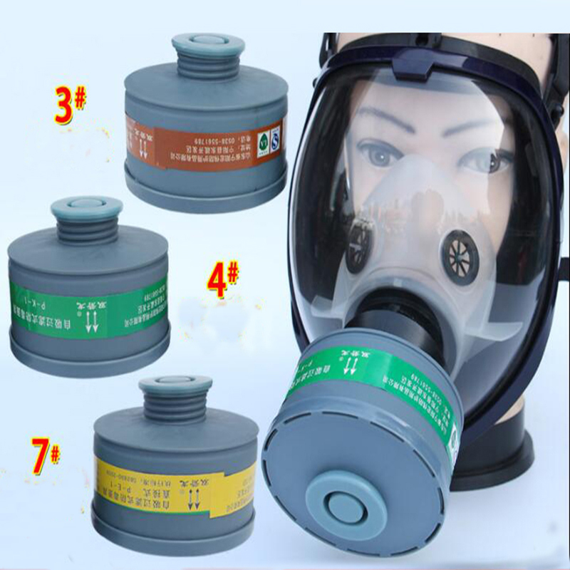 Chemcial Safety Paint Spray Gas Mask Full Face Facepiece Work Respirator Mask With Cartridge Filter 40mm