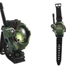 Электронные игрушки переговорные 2 шт. часы ухо Инструменты Двухканальные рации игрушка переговорные Интерком детская