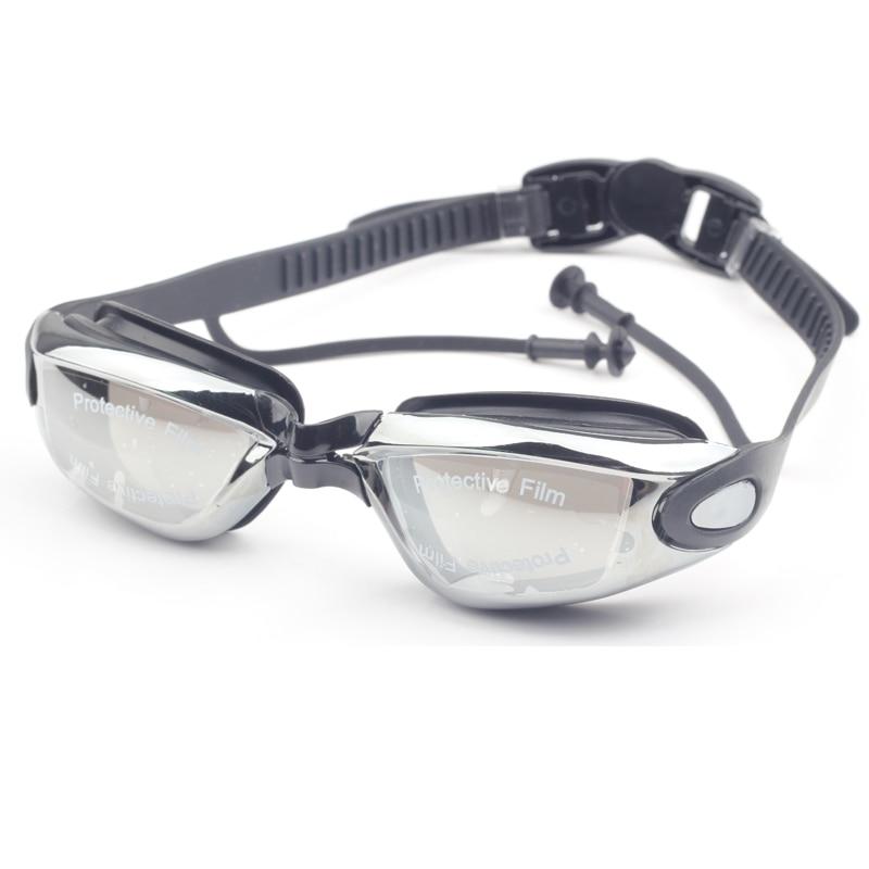 Adults Diving goggles Myopia earplug Waterproof Men arena natacion Optical swim eyewear Anti Fog Prescription Swimming glasses(China)
