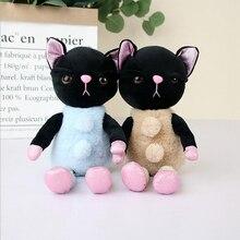 25cm Cartoon Black Cats Doll Plush Toys Stuffed Animal Small Cat Soft Baby Girls Ragdoll Gifts