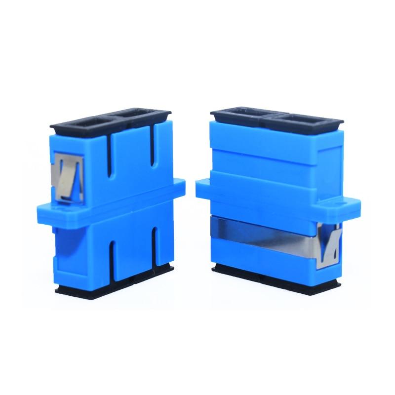 50pca/lot SC/UPC to SC/UPC Duplex Singlemode Fiber Optic Adapter,SM DX communications SCUPC fiber optic coupler free shipping