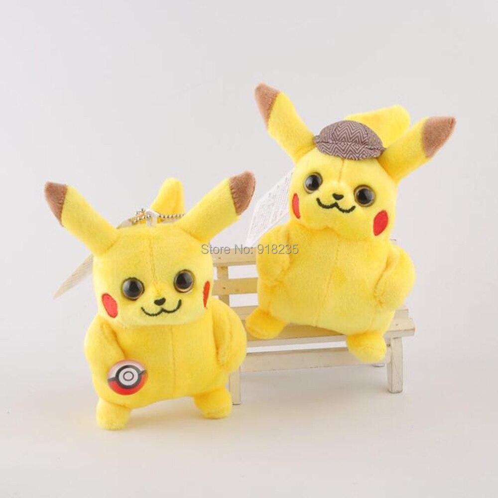 """Oyuncaklar ve Hobi Ürünleri'ten Filmler ve TV'de 20/Lot 2 Stilleri Pikachu 4 """"10 CM Peluş Anahtarlık Kolye Doldurulmuş Oyuncaklar'da  Grup 1"""