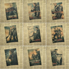 Edge Of Tomorrow Classic Core Movie Kraft Paper Poster Bar Cafe Living Room Dining Wall