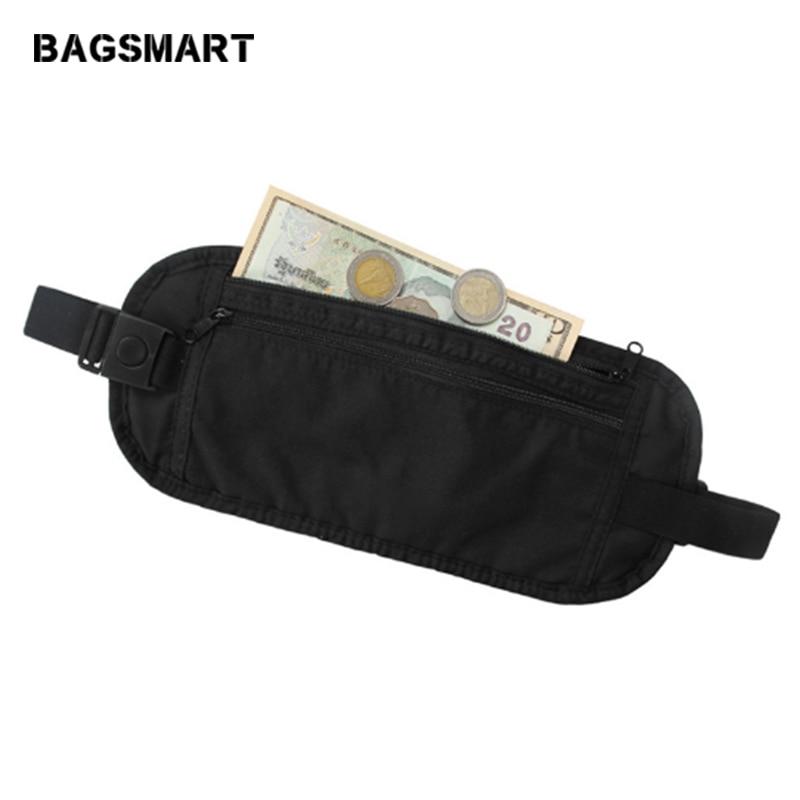 BAGSMART Туристичний гаманець мішки для постільної білизни ремінь талії сумка для iPhone радіаційна захист упаковка організатор Passort покриття над безпекою