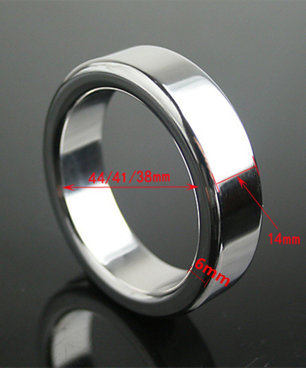 Stainless Steel Metal Male Cock Penis Rings Bondage Slave In Adult Games,Fetish Erotic Sex Products Toys For Men - QW02