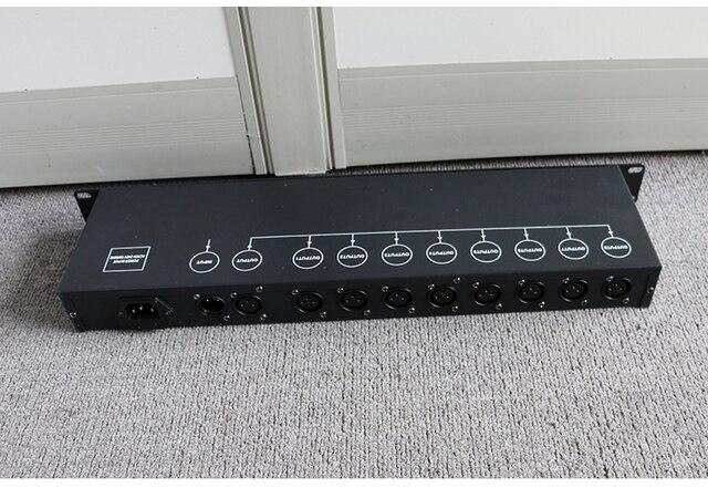 Gratis Verzending Beste Kwaliteit 8CH Dmx Splitter DMX512 Licht Podium Verlichting Signaal Versterker Splitter 8 Manier Dmx Distributeur