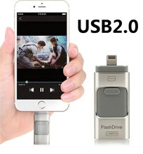 For iPhone 6 6s Plus 5 5S ipad Pen drive HD memory stick Dual purpose mobile OTG Micro USB Flash Drive 128GB 32GB 64GB PENDRIVE