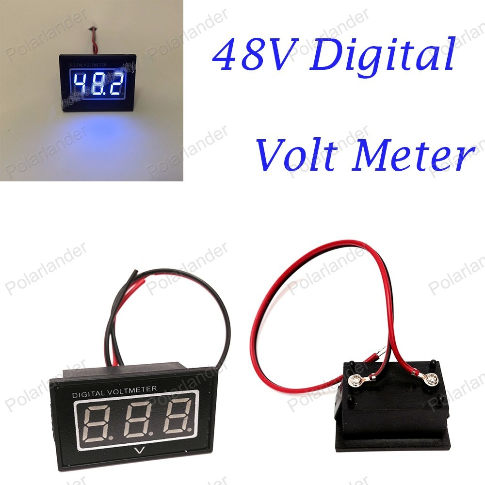 1 PCS dust-proof 48V For Golf Cart Blue Digital Volt Meter Battery Gauge Club Car 48 Volt E/ZGO Indicator цены