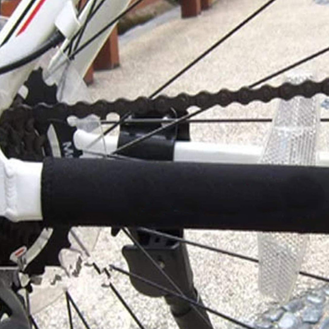 1PC Durable Bike Bicycle Care Chain Posted Guards To Protect The Black Box Frame