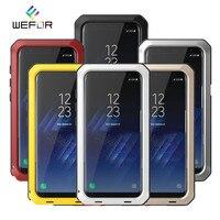 Luxus Doom rüstung Metall Aluminium Telefonkasten für Samsung Galaxy S4 S5 S6 S7 Rand S8 S9 Plus Stoßfest Harte Abdeckung für Note 3 4 5