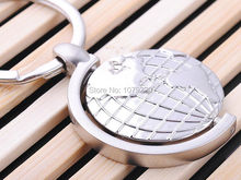 Globe Earth Keyring Emboss Funny Rotate Classic 3D Pendant KeyChain Creative Gift