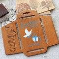 Ретро Zakka ремесло DIY шаблон конверта креативный деревянный шаблон конверта ручная трафаретная форма сделать Envenlope