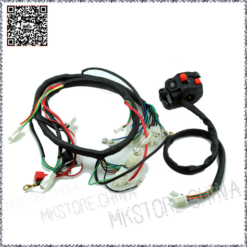 hight resolution of 250cc switch quad wiring harness 200 250cc chinese electric start for loncin zongshen ducar lifan