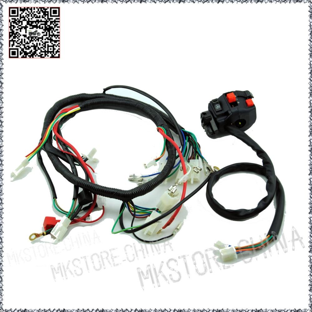250cc switch quad wiring harness 200 250cc chinese electric start for loncin zongshen ducar lifan [ 1000 x 1000 Pixel ]