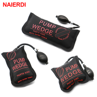 3PCS Black NAIERDI Pump Wedge Locksmith Tools Full Size Auto Air Wedge Airbag Lock Pick Set