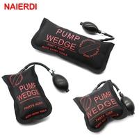 3PCS Black NAIERDI Pump Wedge Locksmith Tools Full Size Auto Air Wedge Airbag Lock Pick Set