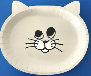 Image 5 - 8 יח\חבילה חמוד חתול נייר צלחות ספקי צד מסיבת יום הולדת קישוטי ילדים תינוק מקלחת קריקטורה חמה נייר צלחת ספק