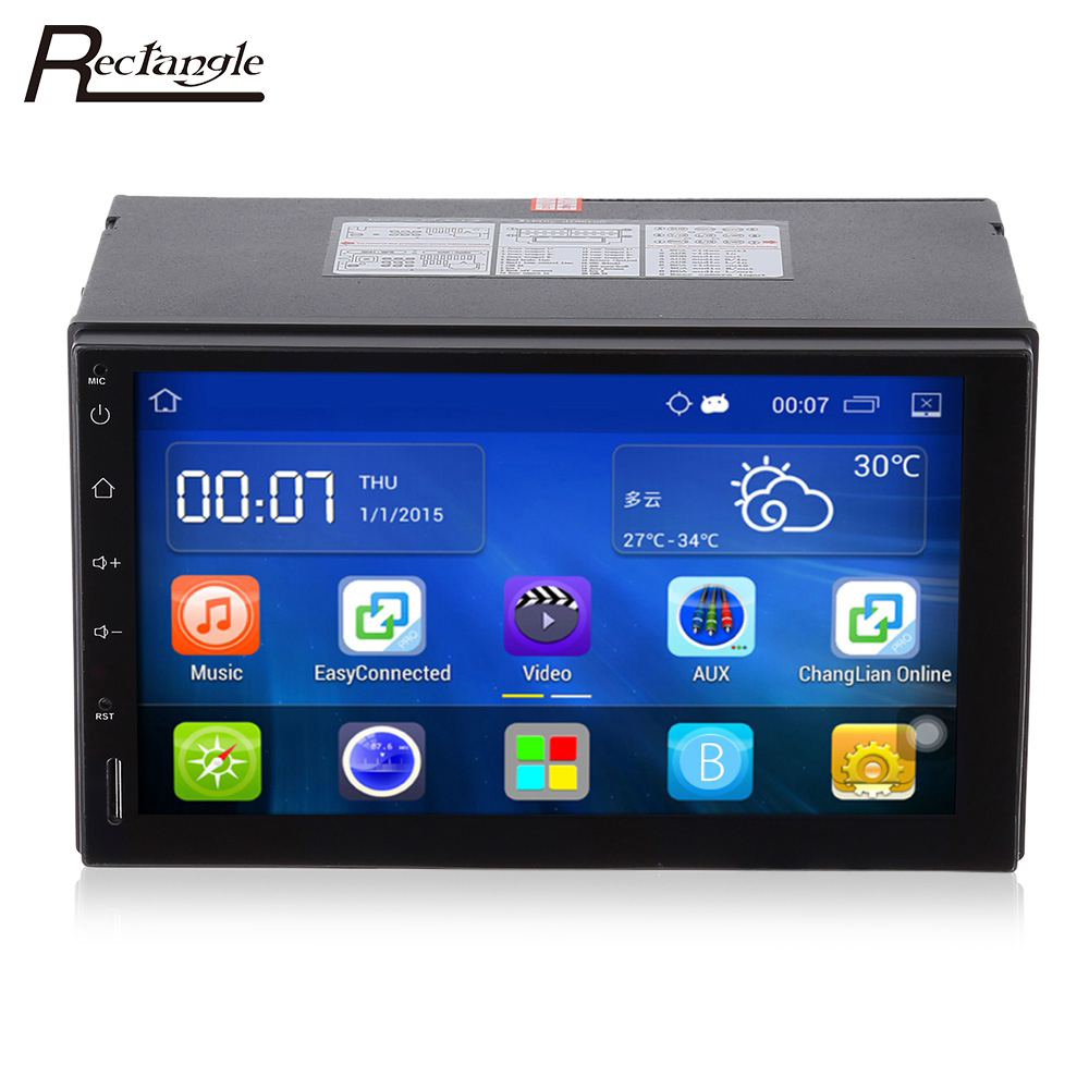 2 Din Android 5.1 Voiture Radio Stéréo 7 pouce Tactile Écran Voiture Lecteur DVD GPS de Navigation Bluetooth USB SD Directeur contrôle de roue