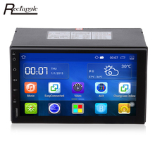 2 DIN Android 5.1 автомобильный Радио стерео 7 дюймов Сенсорный экран dvd-плеер GPS навигации Bluetooth USB SD рулевое колесо управление