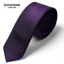 Korean narrow neckties 5cm business casual fine tie male deep purple gradient lattice L5057