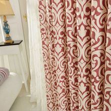 Festive Red Blue Modern Curtains for Living Room Thick Blackout Curtains for Living Room Children Bedroom