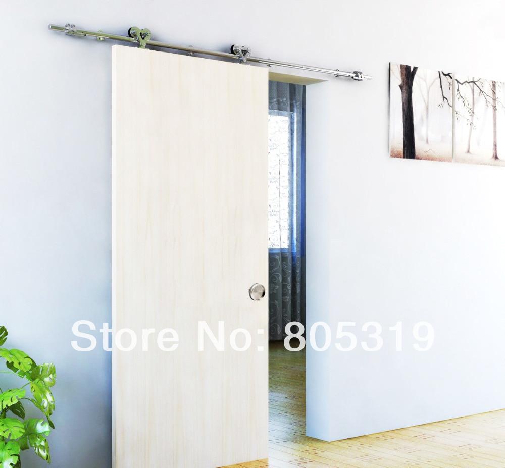 doble rodillo kit granero hardware de la puerta corredera de madera maciza acabado satinado