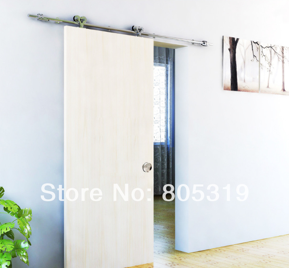 Double Roller Wooden Sliding Solid Barn Door Hardware Kit(satin Finish) In  Doors From Home Improvement On Aliexpress.com   Alibaba Group