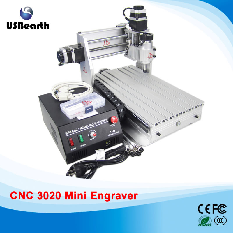 230W CNC Router 3020 T-DJ Milling Machine, wood carving machine, Free tax to EU eur free tax cnc 6040z frame of engraving and milling machine for diy cnc router