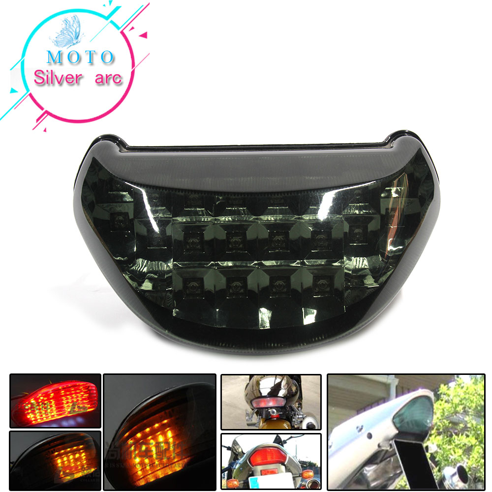 Motorcycle LED Rear Turn Signal Tail Stop Light Lamps Integrated For KAWASAKI Ninja ZX12R ZX-12R ZX 12R 2000-2005 2004 03 02 01