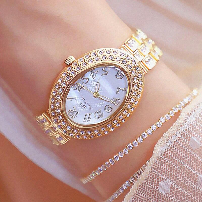 Relojes Mujer Ladies Diamond Bracelet Watches Women Luxury Fashion Flamboyant Dial Little Diamonds Watch Female clock wach lady(China)